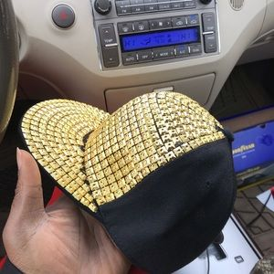 Gold Stoned Hat Regular Size